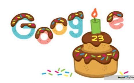Google Ulang Tahun ke-23, Doodle Berbentuk Kue Yang Lucu!