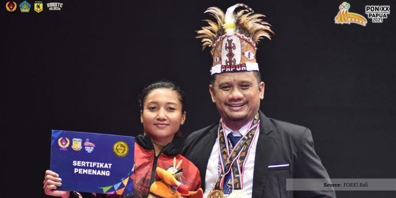 Medali Emas Kedua Di Cabor Karate Oleh Cok Istri Agung Sanistyarani!